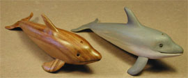Dolphins made in class during Carving Cruise